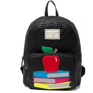 Betsey Johnson An Apple A Day Backpack Black red